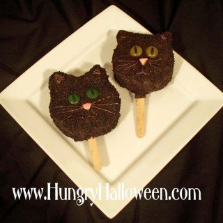 Rice Krispies Treat Black Cat Pops