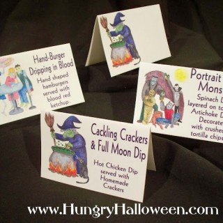 Halloween Party Food Tags