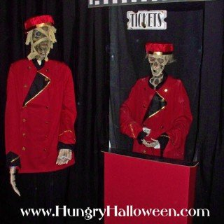 Halloween Decorations – Catacomb Cinemas including Zombie Ticket Takers