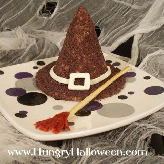 Halloween Cheese Ball Witch Hat