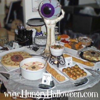 Halloween Appetizers Shaped Like Eyes