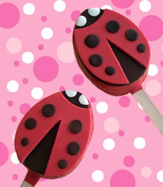 Valentine's Day isn't always just about the adults. Make your kids these adorable Ladybug Rice Krispies Pops and enjoy the day with your whole family!