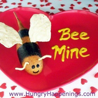 "Valentine's Day – ""Bee Mine"" Corn Dog Bumble Bees"