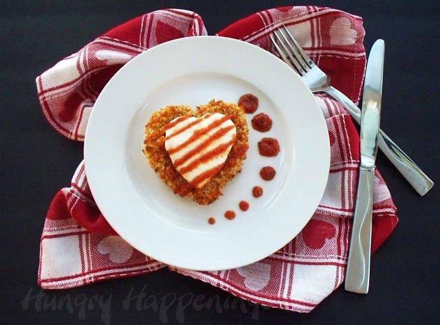 Chicken Parmesan Hearts