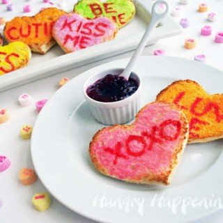 Valentine's Day Breakfast – Conversation Heart Toast