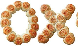 Hugs and Kisses Pizza Pinwheels