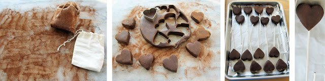 How to make chewy chocolate hearts to dip in hard candy.