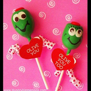 "Valentine's Day Chocolate Truffle Pops – ""Olive You"""