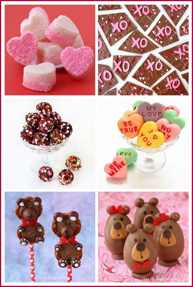 Make homemade candy for Valentine's Day using simple techniques shared at HungryHappenings.com.