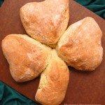 Irish Soda Bread Shamrock for St. Patrick's Day
