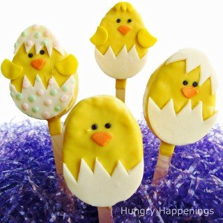 Adorable Hatching Chicks Rice Krispies Treats