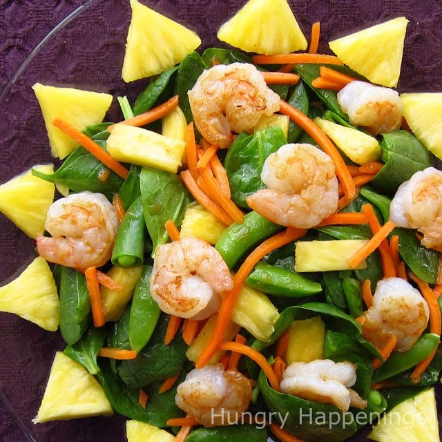 A good salad is always a delicious dinner addition, so why not make this delicious Sunny Seared Shrimp and Spinach Salad for Mother's Day? The savory shrimp and sweet pineapple go amazingly together; you wont be able to stop eating this delicious meal!
