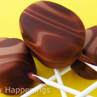 Swirling Chocolate Marshmallow Eggs