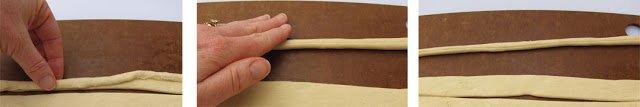 Make Crescent roll carrots using Pillsbury crescent dough sheets.
