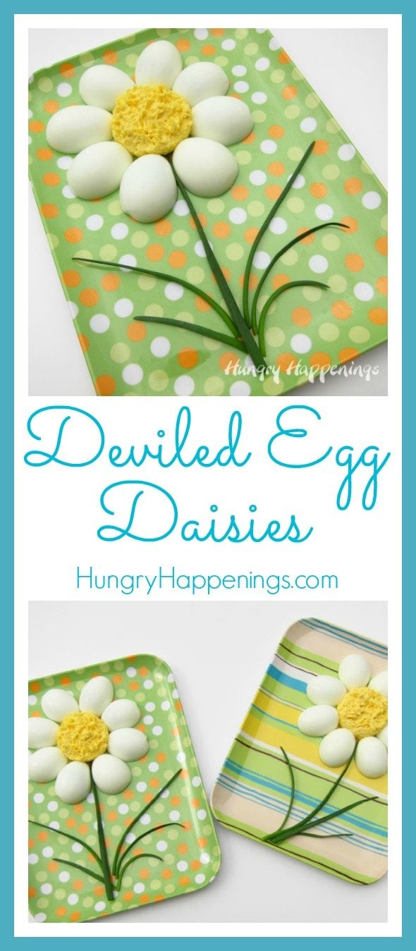 Deviled eggs are a favorite at any party, so be festive this Easter and make these Deviled Egg Daisies! It's a simple recipe that will have your guests thinking you spent hours in the kitchen!