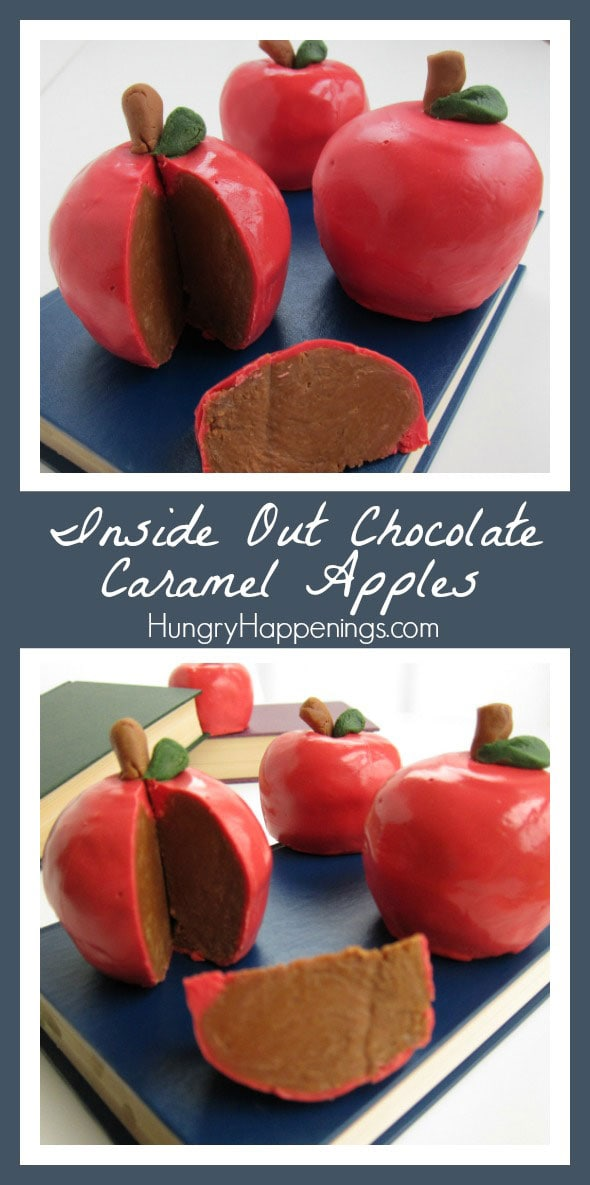 Nothing says thank you to a teacher like theseInside Out Chocolate Caramel Apples! This tasty treat is one of a kind and will have any teacher begging for the recipe!