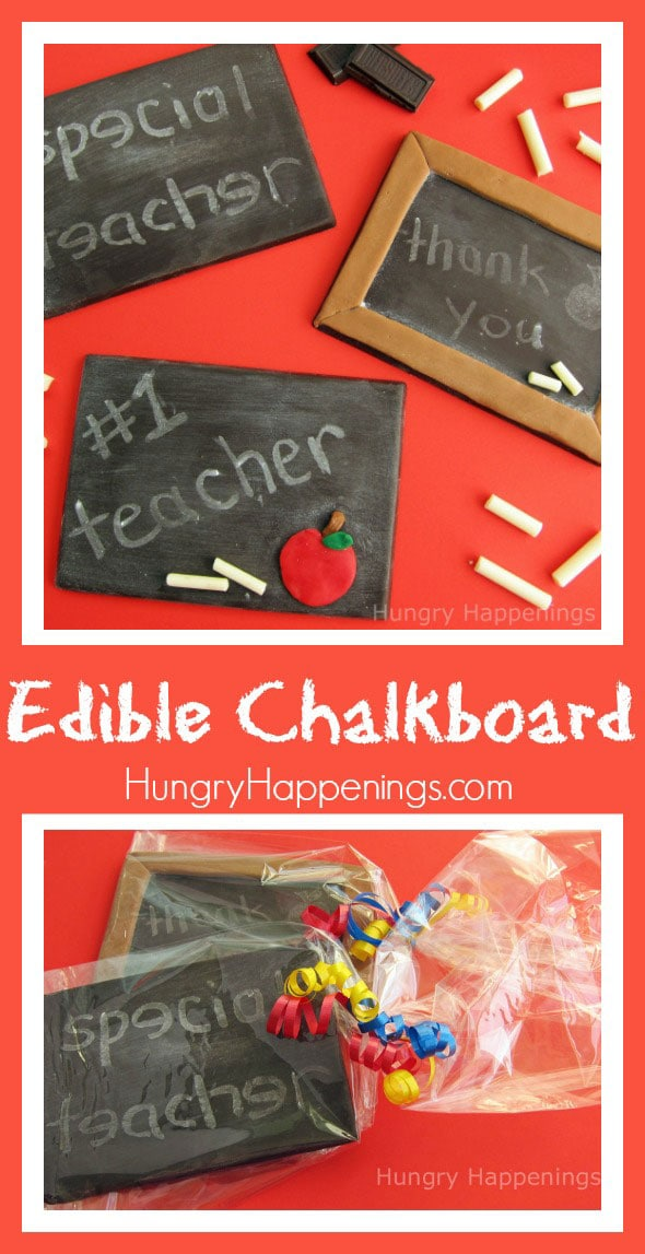 Surprise your child's teacher with an Edible Chalkboard! This simple treat is so much fun to make and such an easy project. Have fun creating this tasty craft with your kids!