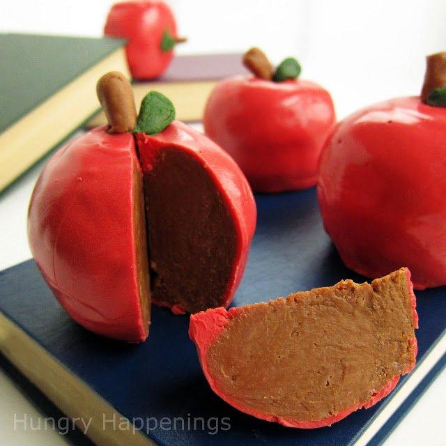 inside out chocolate caramel apple
