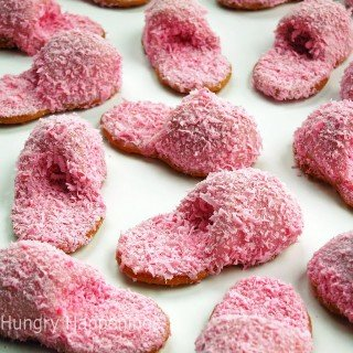 How to make Pink Fuzzy Slipper Cookies out of Nutter Butters – Video