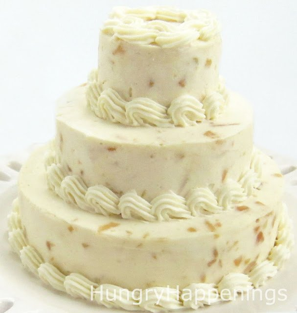 garlic parmesan cheese ball wedding cake with roasted nuts