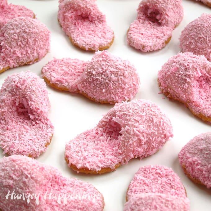 Nutter Butter Pink Fuzzy Slipper Cookies