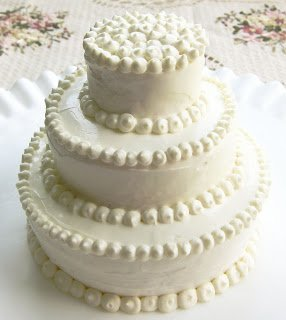 decorated cheese ball wedding cake