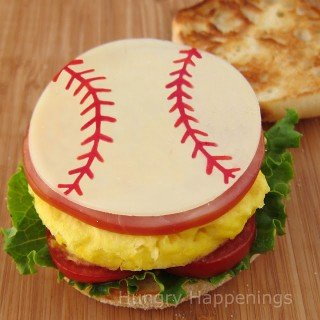 Father's Day Breakfast Sandwich for a Baseball (or Sports) Enthusiast
