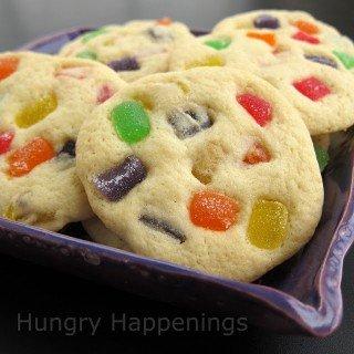Gumdrop Cookies – Sugar Cookies Filled with Fruit Flavored Gumdrops