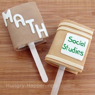 Rice Krispie Treat School Book Pops
