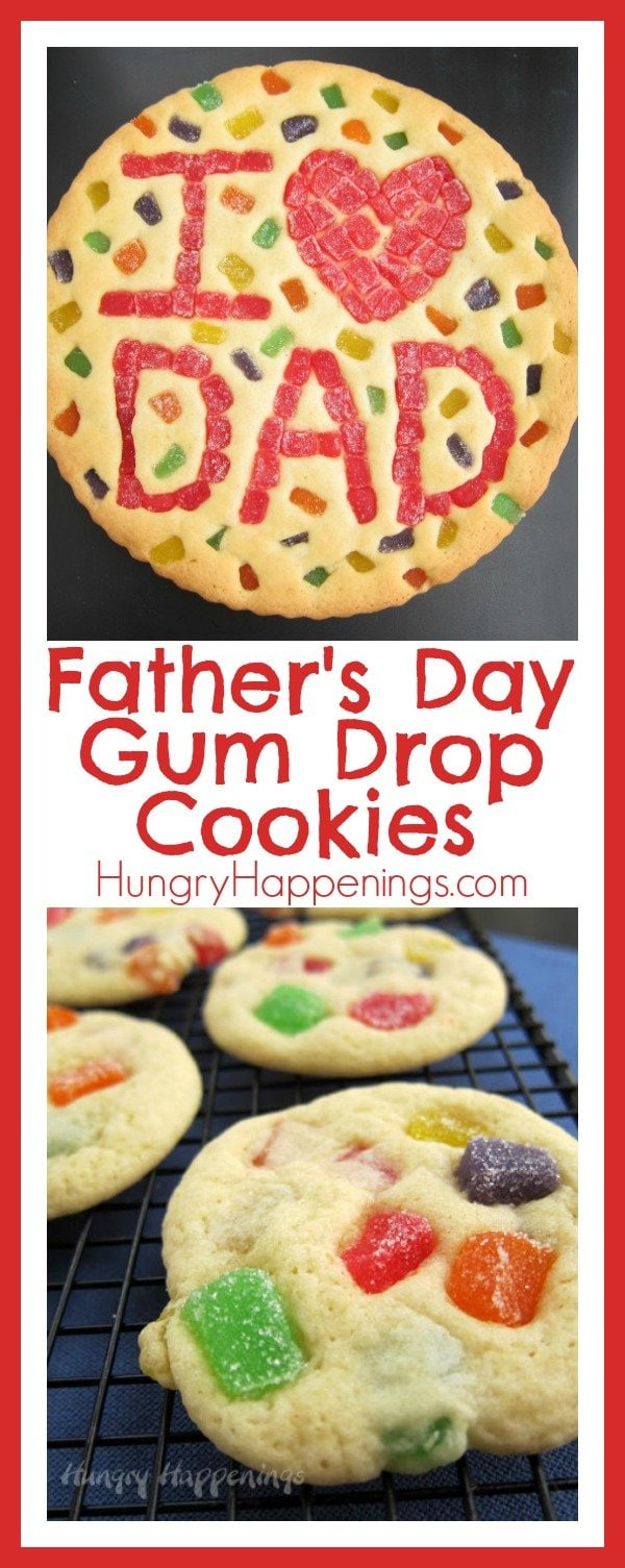 Bake up some love and make these Father's Day Gum Drop Cookies! These delicious cookies are sweet, sticky, and full of love!