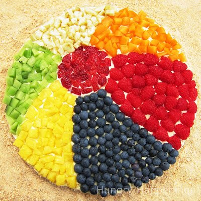 beach ball fruit cookie