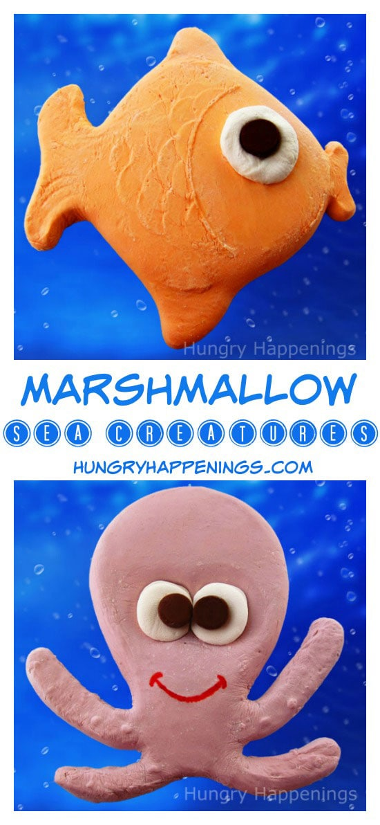 Use sand molds to create these funMarshmallow Sea Animals! They are great for any party and are so adorably fun to make.