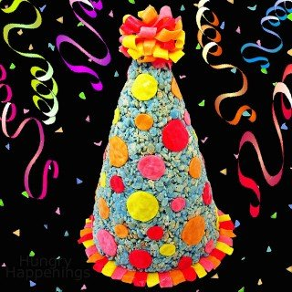 Celebrate a special birthday with this Rice Krispies Treat Party Hat