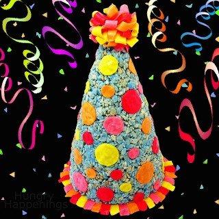 Rice Krispies Treat Party Hat – Birthday Treat