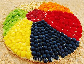 Fruit Pizza Beach Ball