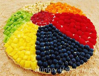 Fruit Pizza Beach Ball