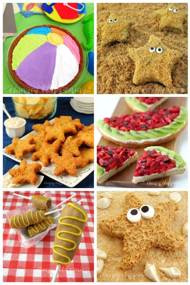 Fun summer food crafts will make any party more festive. See all the recipes at HungryHappenings.com.