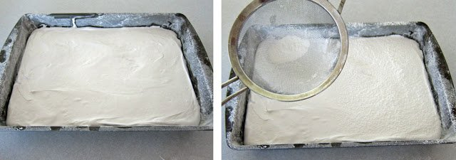 Homemade marshmallow recipe.