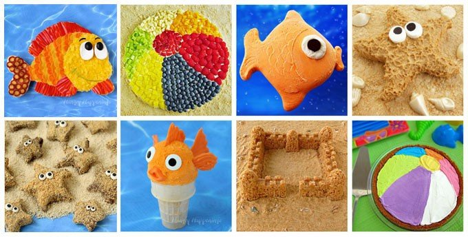 Make a splash at your next pool party by serving these fun food crafts.