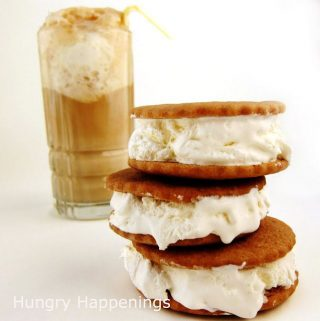 root beer float ice cream sandwiches and a root beer float