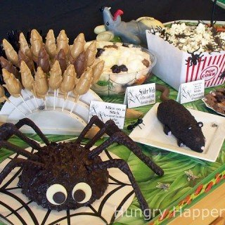 creepy Halloween themed party food