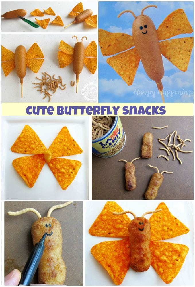 Make lunch time fun by serving your kids these cute butterfly snacks.