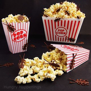 Halloween Popcorn with Chocolate Bugs – Do you think you could handle eating this?