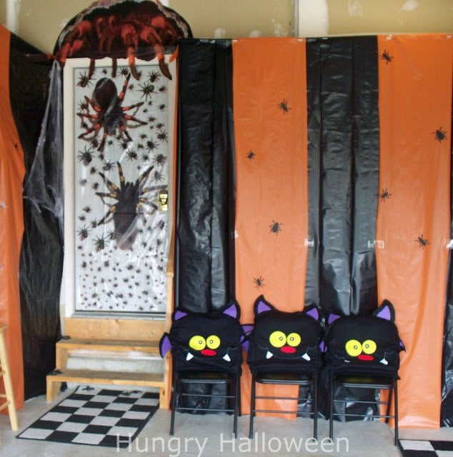 Halloween carnival with spiders and bugs.