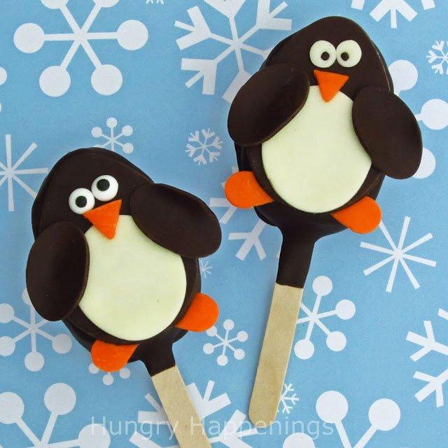 Sweet Penguin Rice Krispies Treat Pops