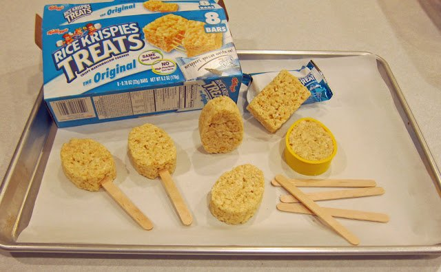 how to mold rice krispies treats