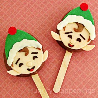 Twelve days of sweet designs, day 6 – Elves on chocolate caramel pops