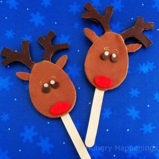 Twelve days of sweet designs, day 4 – Chocolate Reindeer Lollipops