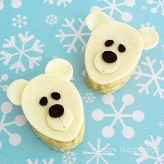 Rice Krispie Treat Polar Bear