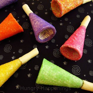 Sugar Cone Party Horns – Toot your own edible horn this New Year's eve!